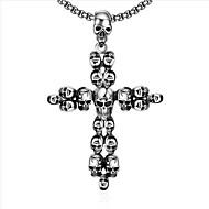 Muškarci Ogrlice s privjeskom Jewelry Cross Shape Titanium Steel Kereszt Jewelry Za Dnevno Kauzalni 1 paket