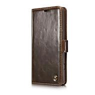 Voor lg v20 / v10 case cover luxe echt leder schokbestendige plating magnetische flip telefoon gevallen voor lg g6 / g5