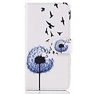 Samsung Galaxy s8 plusz s7 szélén esetben fedezi a pitypang mintás műbőr tokok s6 szélén plusz s5 mini s4 s3