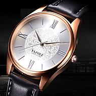 YAZOLE Muškarci Modni sat Ručni satovi s mehanizmom za navijanje Casual sat Kvarc Koža Grupa Cvijet Cool Neformalno Elegantno Crna Smeđa