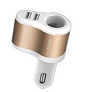 Hurtig opladning Andre 2 USB-porte Kun oplader DC 5V/3.1A 2.4A