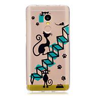 Til xiaomi redmi note 4 note 3 case cover tegneserie kat mønster bagcover soft tpu redmi note