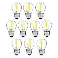 10pcs BRELONG Dimming G45 E27 4W 4LED 300LM Antique Filament Lamp Warm White / White AC22OV Transparent Bulb Light