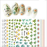 1 Nail Art Samoprzylepna Do montażu powierzchniowego Dziewczyny i młode kobiety 3-D Naklejka Kosmetyki do makijażu Nail Art Design