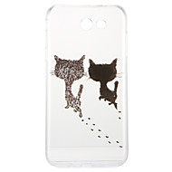 Case for Samsung  Galaxy A3(2017) A5(2017) Cover Pattern Back Cover Case Cat Soft TPU