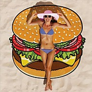 2017 Summer Vacation Beach Towel Lovely Cute Hamburger Printed Beach Cover