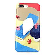 Käyttötarkoitus kotelot kuoret Kuvio DIY squishy Takakuori Etui Piirretty Pehmeä TPU varten AppleiPhone 7 Plus iPhone 7 iPhone 6 Plus
