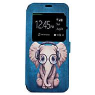 Για Θήκες Καλύμματα Θήκη καρτών με βάση στήριξης Με σχέδια Πλήρης κάλυψη tok Κινούμενα σχέδια Ελέφαντας Σκληρή PU Δέρμα για SamsungS8 S8