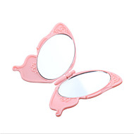 1Pcs Cute Butterfly Handy Folding Mirror Exquisite Pocket Hand Makeup Mirror Compact Foldable Double-Sided Mirrors