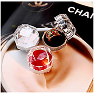 1PCS Pendant Locket Ring Earring Jewelry Storage Ear Stud Case Gift Container Carrying Cases for Rings Display Box Random Color