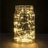 1pc 2m 20led akkumulátoros vezetett lámpa könnyű vízálló esküvői party karácsonyi dekoráció