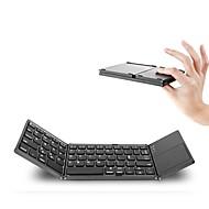 Kannettava kaksinkertainen taitettava Bluetooth-näppäimistö bt langaton taitettava kosketusnäyttö näppäimistö ios / android / windows