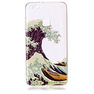 Taske til huawei p8 lite (2017) p10 lite telefon taske tpu materiale imd proces bølger mønster hd flash pulver telefon taske p9 lite p8