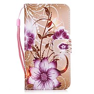 Case Cover For Samsung Galaxy A5 2017 A3 2017 Purple Rose PU Leather Flip Case with Magnetic Snap and Card Slot