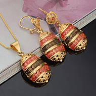 Dame Brude Smykke sæt Rhinsten kostume smykker Mode Euro-Amerikansk Guldbelagt Oval form Til Fest Hverdag Bryllupsgaver