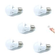 3W LED Έξυπνες Λάμπες A60(A19) 9 SMD 2835 200 lm Θερμό Λευκό Ψυχρό Λευκό Αισθητήρας Ενεργοποίηση Ήχου Διακοσμητικό Έλεγχος φωτισμούAC