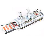Palapelit DIY-setti 3D palapeli Rakennuspalikoita DIY lelut Sotalaiva Lentotukialus Laiva