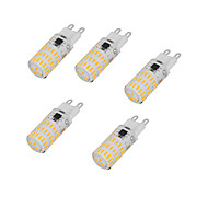 4W 2-pins LED-lampen T 46 SMD 4014 350-450 lm Warm wit Koel wit AC220 V 5 stuks