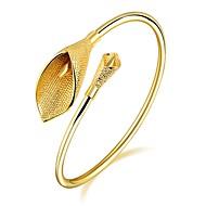 Naisten Rannekkeet Cubic Zirkonia Yksinkertainen Muoti Ihana ylellisyyttä koruja Zirkoni Gold Plated Ruusukulta-päällystetty Tube Shape