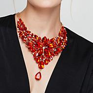 Dame Erklæring Halskæder store halskæder Blomstformet Ædelsten Harpiks Mode Europæisk luksus smykker Elegant kostume smykker Smykker Til