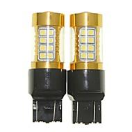 Sencart 2adet 7443 w21 21w w3x16q yanıp sönen ampul led araba kuyruk dönüş ters ampul lambaları (beyaz / kırmızı / mavi / sıcak beyaz) (dc