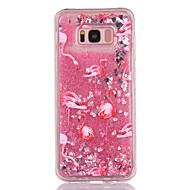 Przypadku samsung galaxy s8 s8 plus obudowa pokrowiec flamingo wzór tpu materiał pełny miękki miłość flash proszek quicksand telefon