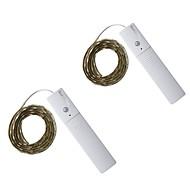 3W Φώτα σε Κορδόνι 300 lm DC5 V 1 m 60 leds Θερμό Λευκό