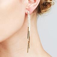 Dames Oorbellen set imitatie Diamond Modieus Euramerican Movie Jewelry Luxe Sieraden Opvallende sieraden Sexy Koper Lijnvorm Sieraden Voor