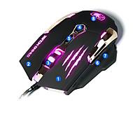 sades Q6 vezetett 4 színes játék játék egér 3d henger home office optikai kialakítás laptop pc egér
