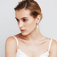 Női Fülbevaló szett Gyöngyutánzat Sexy Divat Személyre szabott Euramerican Film ékszer luxus ékszer Méretes ékszerek RézCircle Shape Line
