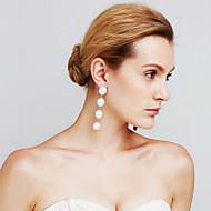 Damskie Kolczyki Ustaw Pearl imitacja Modny Osobiste euroamerykańskiej Film Biżuteria Miedź Circle Shape Biżuteria NaWydarzenie / impreza