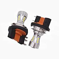 2x mini tasarım süper parlak h15 far ampulü h15 yüksek kısa huzmeli far / led drl işlevi vw audi bmw ford için uygun