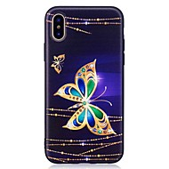 Voor iPhone X iPhone 8 iPhone 8 Plus Hoesje cover Patroon Achterkantje hoesje Vlinder Zacht TPU voor Apple iPhone X iPhone 7s Plus iPhone