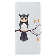 etui til samsung galaxy note 8 ugle kortholder pu tegnebog læder kort taske med mønster