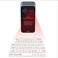 bluetooth laser projektion virtuelt tastatur med lcd display engelsk qwerty layout mus funktionstast voice prompt