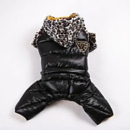 Hund Mäntel Pullover Overall Hundekleidung Lässig/Alltäglich warm halten Sport Leopardenmuster Orange Gelb Rot