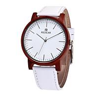 男性用 女性用 ファッションウォッチ 腕時計 ウッド 日本産 クォーツ 木製 本革 バンド チャーム カジュアルスーツ 白