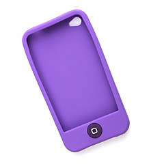 Protective Silicone Case for iPhone 4 (Purple)
