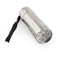 FX-709b 1-mode 9-LED-taskulamppu (3xaaa/3x10440, harmaa)