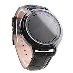 Relógio Inovador LED Azul e Branco