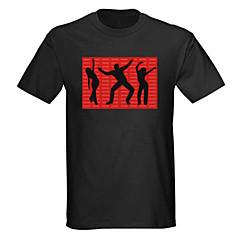 geluid en muziek geactiveerd el Visualizer vu-spectrum danser onder leiding t-shirt (2 * aaa)