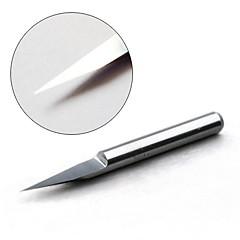 Carbide Engraving Bits - 20 Degree 0.1mm Diameter (5-Pack)