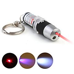 3 en un detector de UV + llavero láser + llavero llevó - negro