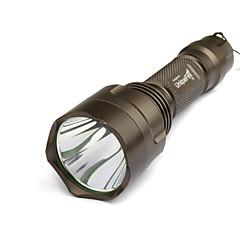 uniquefire T6 5 형태 크리 말 XM-L T6 LED 플래쉬 등 세트 (1000LM, 1x18650에, 갈색)