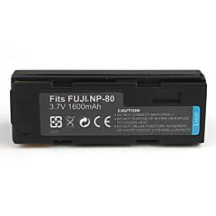 1600mAh pile pour appareil photo NP-80 pour Fujifilm FinePix 4800 Zoom et plus