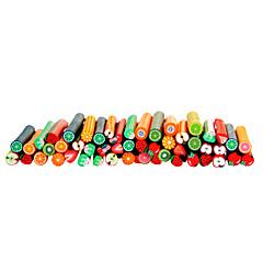 50pcs 3D Cane Stick Rod Sticker Nail Art Decoration -Fruit Sets