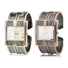 여성을위한 합금 밴드 석영 팔찌 시계