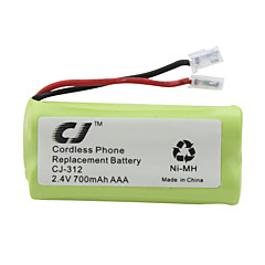 2,4 V 700mAh cordless telefono sostitutivo batteria Ni-MH cj-312