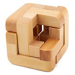 cube magique en bois de puzzle iq