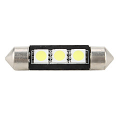 39mm 5050 SMD LED 5500K White Light Bulb for Car